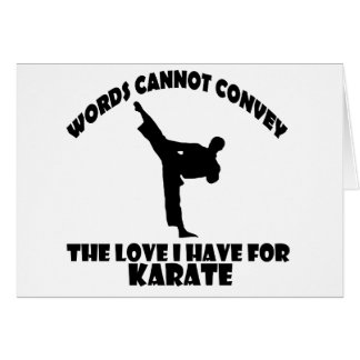 Karate Designs Card