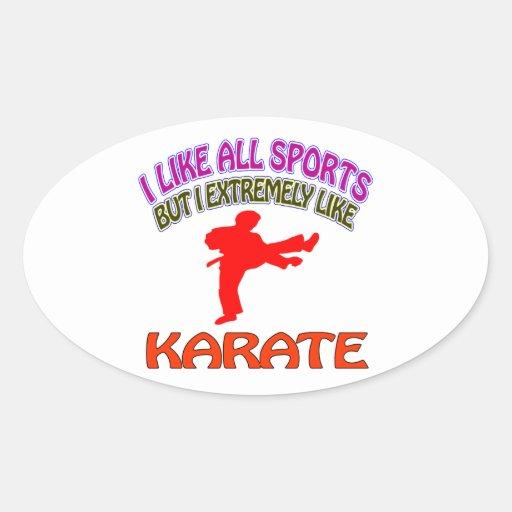 Karate designs oval sticker