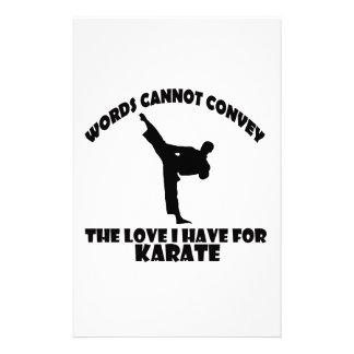 Karate Designs Stationery