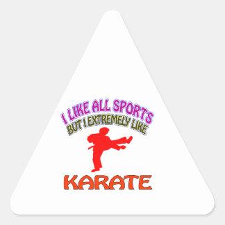 Karate designs triangle sticker