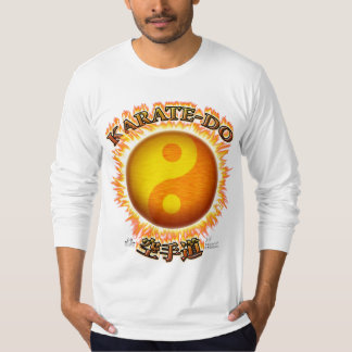 Karate-do Front Long Sleeve Fitted Shirt