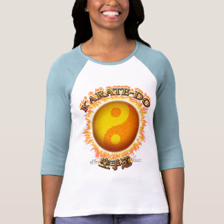 Karate-do Front W 3/4 Sleeve Raglan T-Shirt