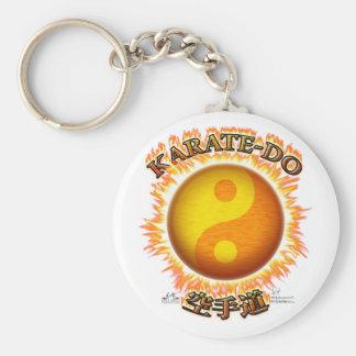 Karate-do Yin/Yang Sun Keychain