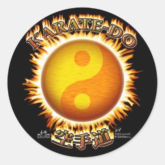 Karate-do Yin/Yang Sun Stickers