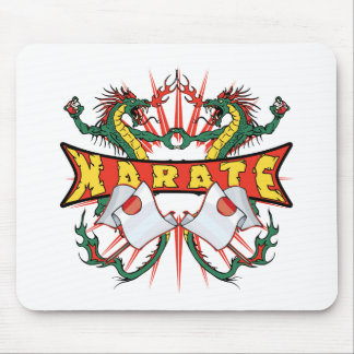 Karate Dragons Mouse Pad
