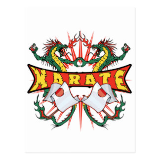 Karate Dragons Postcard