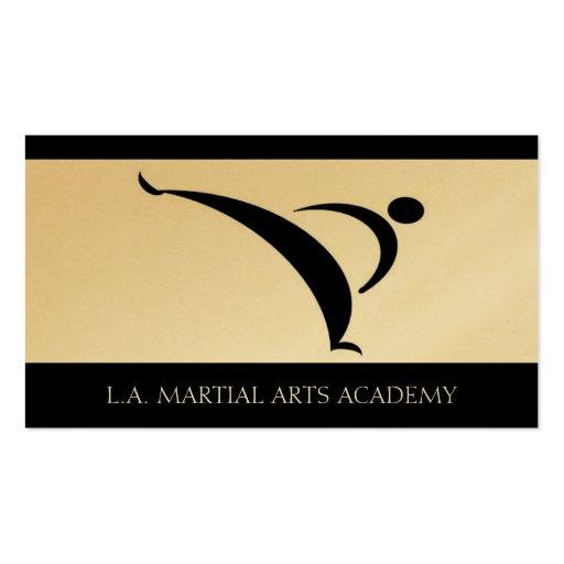 Karate el Taekwondo Kung Fu de la academia de los  Tarjetas De Visita