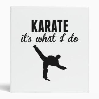 Karate es lo que lo hago