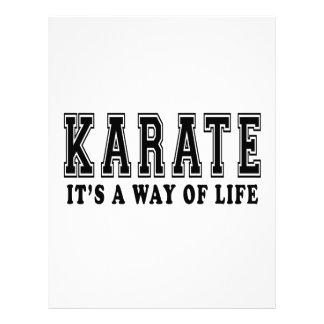 Karate es manera de vida membrete