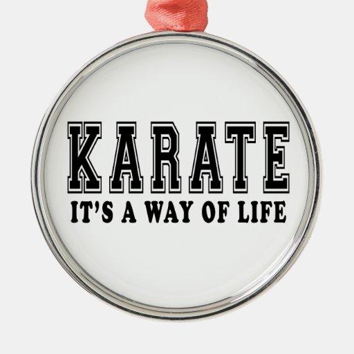 Karate es manera de vida ornamentos de reyes