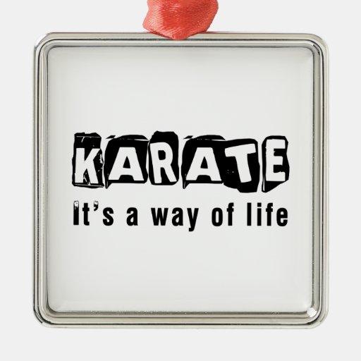 Karate es una manera de vida ornamentos de reyes