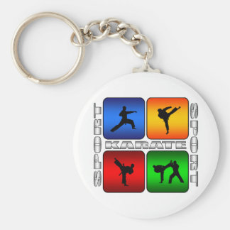 Karate espectacular llavero redondo tipo pin