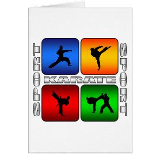 Karate espectacular tarjeta de felicitación