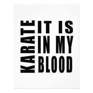 Karate está en mi sangre membretes personalizados