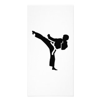 Karate fighter photo card