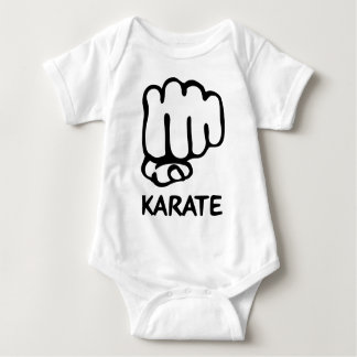 karate fist icon baby bodysuit