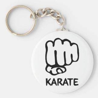 karate fist icon basic round button keychain