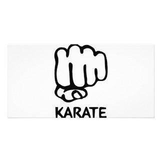karate fist icon card