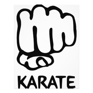 karate fist icon flyer