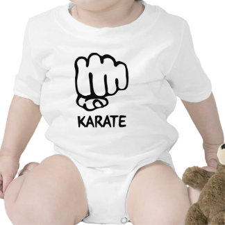 karate fist icon rompers