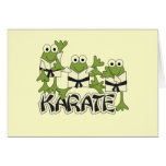Karate Frogs Tshirts and Gifts Greeting Card