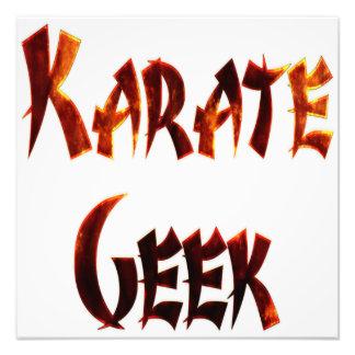 Karate Geek Fire Photo Art