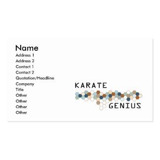 Karate Genius Business Card Template