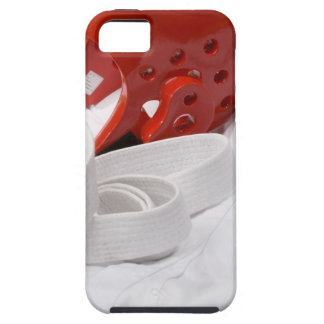 Karate gi and sparring headgear iPhone SE/5/5s case