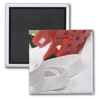 Karate gi and sparring headgear fridge magnet