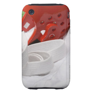 Karate gi and sparring headgear tough iPhone 3 cover
