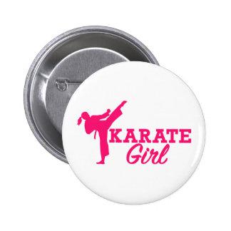 Karate girl button