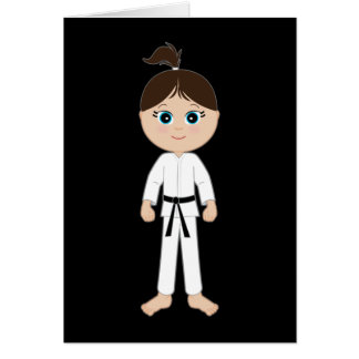 Karate Girl Congratulations Black Belt Card