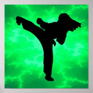 Karate Girl Print