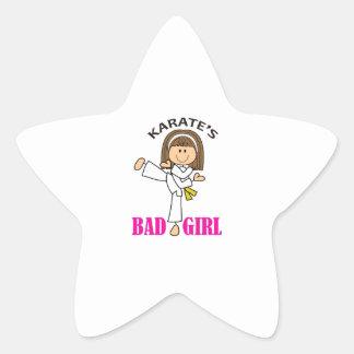 KARATE GIRL STAR STICKER