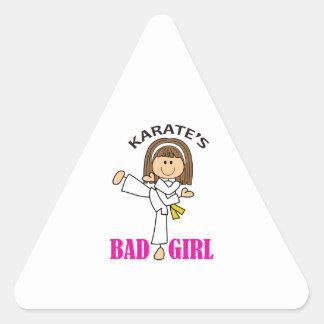 KARATE GIRL TRIANGLE STICKER