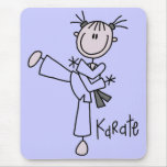 Karate Girl Tshirts and Gifts Mouse Pads