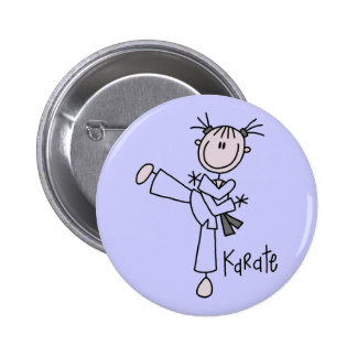 Karate Girl Tshirts and Gifts Pinback Button