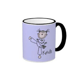 Karate Girl Tshirts and Gifts Ringer Coffee Mug