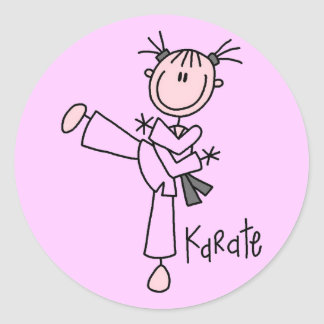 Karate Girl Tshirts and Gifts Classic Round Sticker