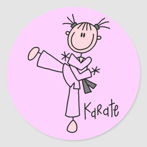 Karate Girl Tshirts and Gifts Sticker