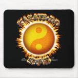 Karate-hace Yin/Yang Sun Mousepad Alfombrilla De Ratones