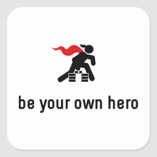 Karate Hero Square Sticker