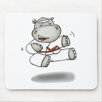 Karate Hippo Mouse Pad