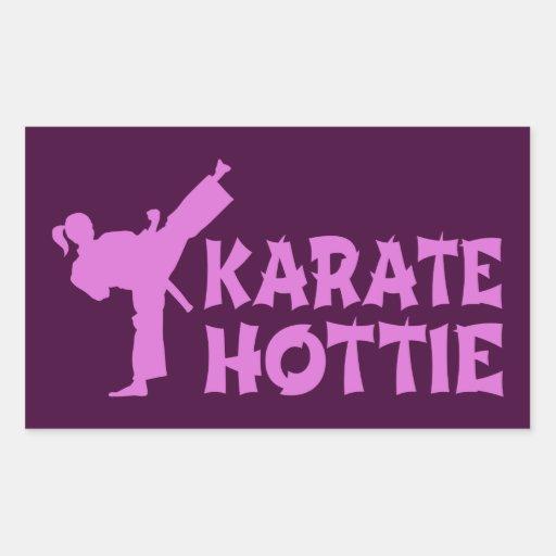 Karate Hottie sticker - girl martial artist