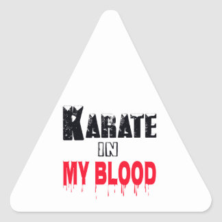 Karate In My Blood Triangle Sticker