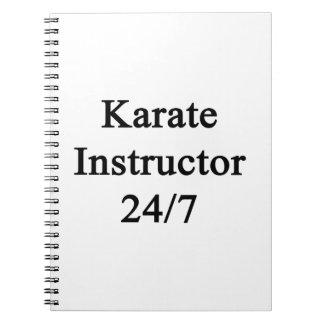 Karate Instructor 24/7 Spiral Note Book