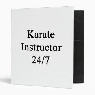 Karate Instructor 24/7 Vinyl Binder