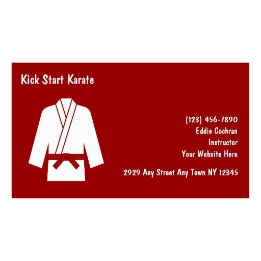 Karate Instructor Business Cards
