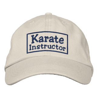 Karate Instructor Embroidered Hats