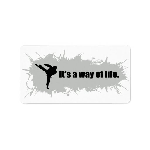 Karate is a Way of Life Address Label